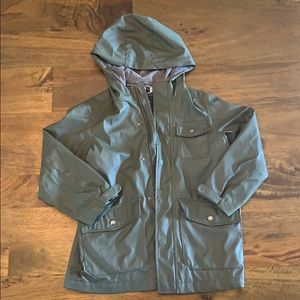 Gap anorak rain coat olive green